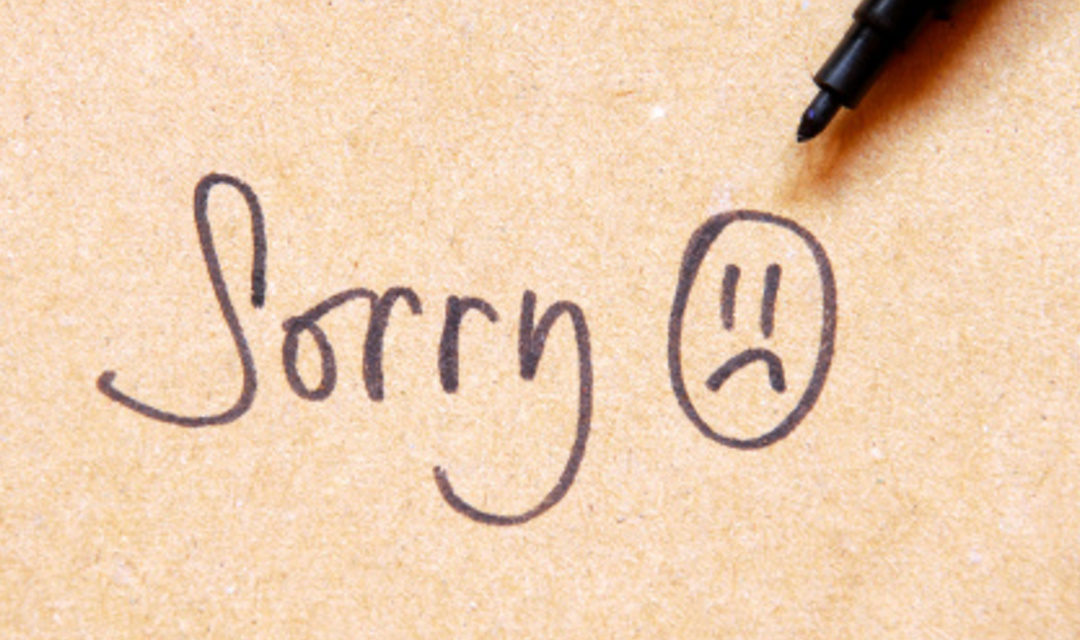 You Can Stop Apologizing Now